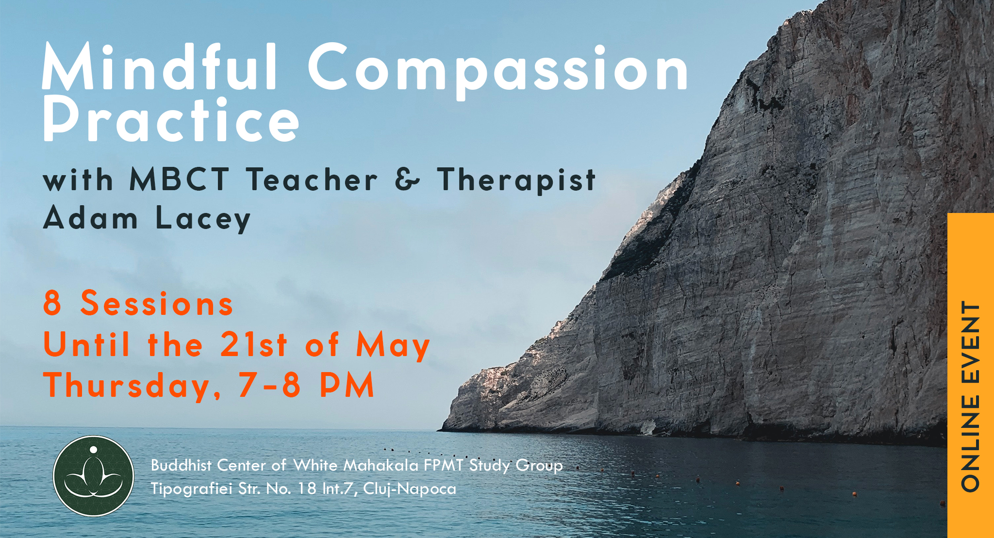 Online Event Mindful Compassion Practice with Adam Lacey