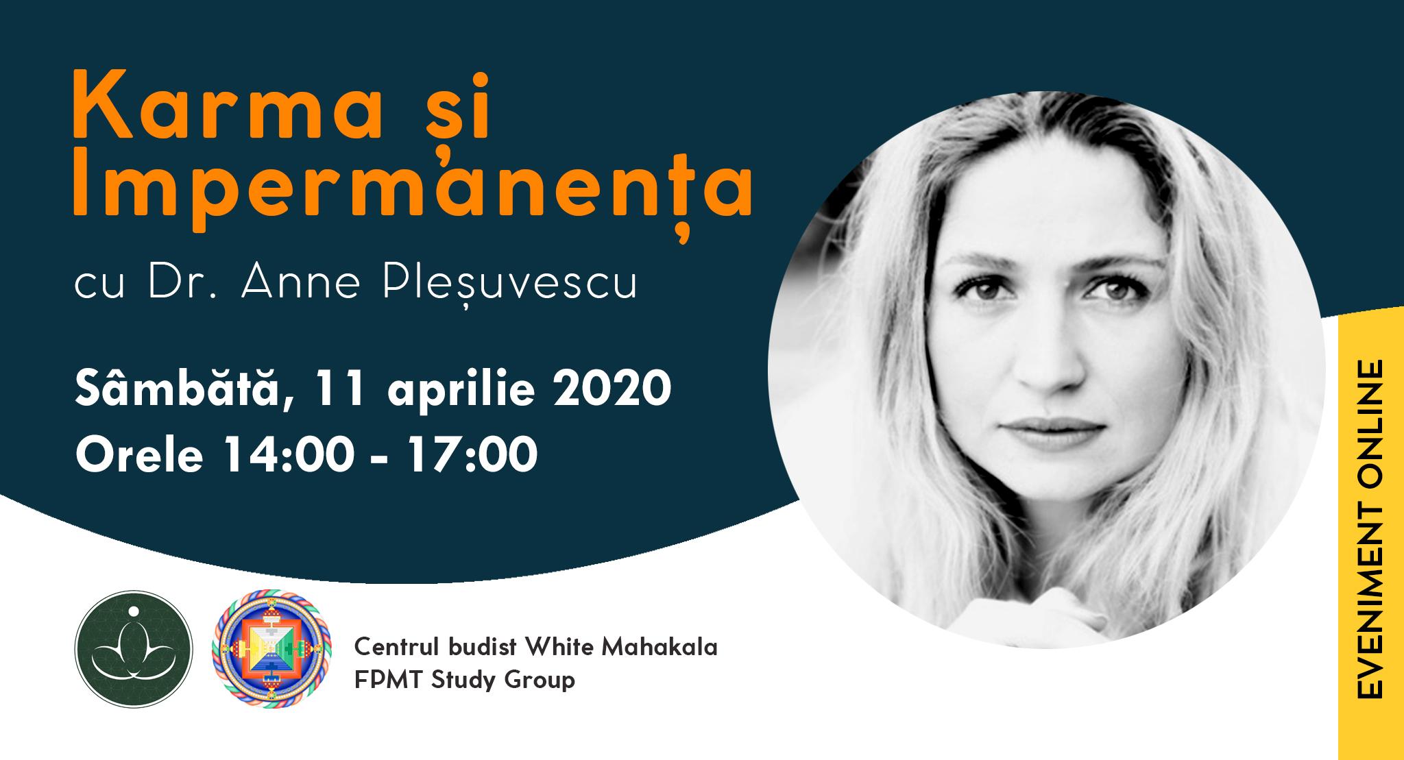 Online Event: Karma si Impermanenta, cu Anne Plesuvescu