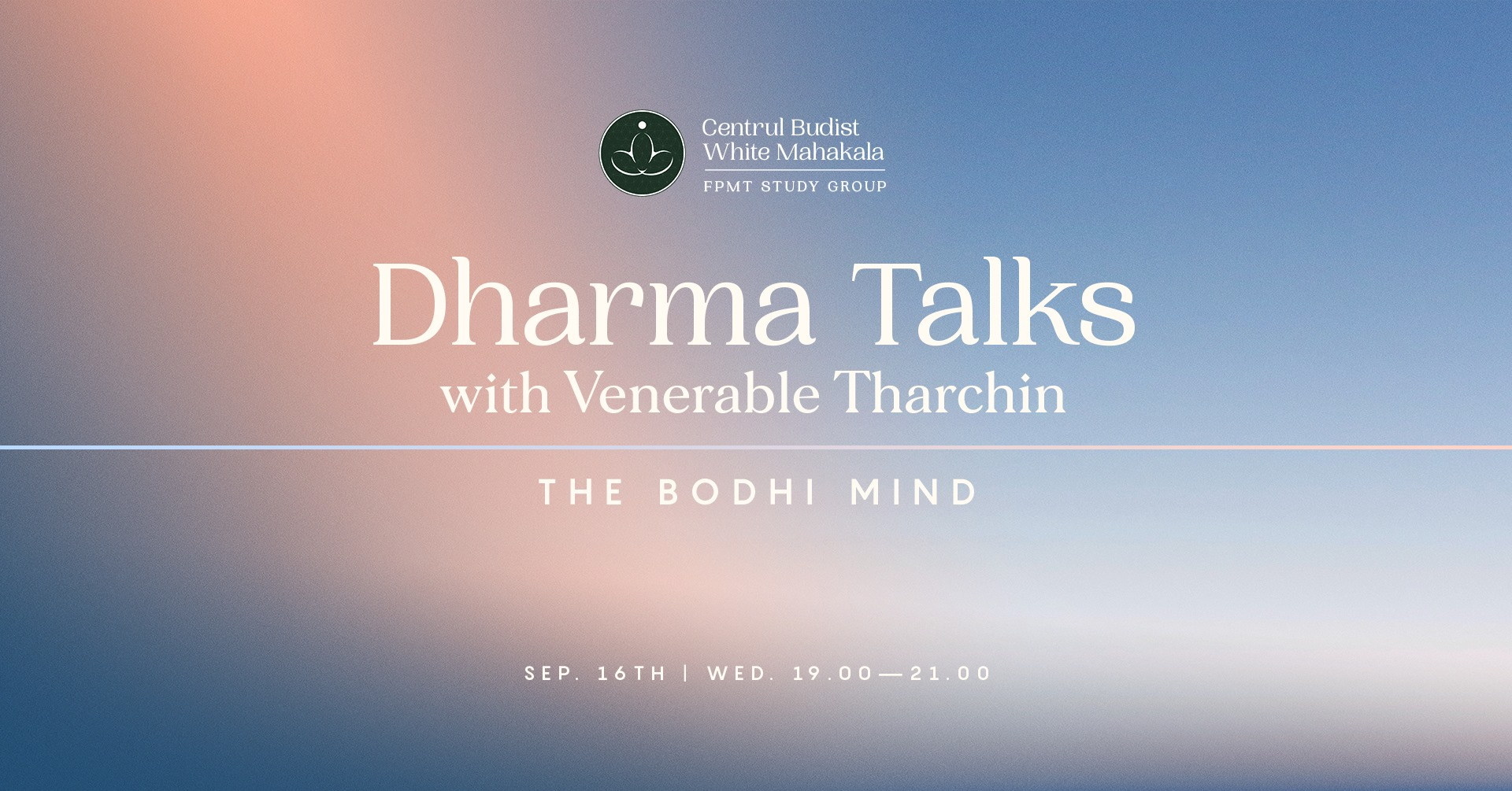 Dharma Talks with Ven. Tharchin