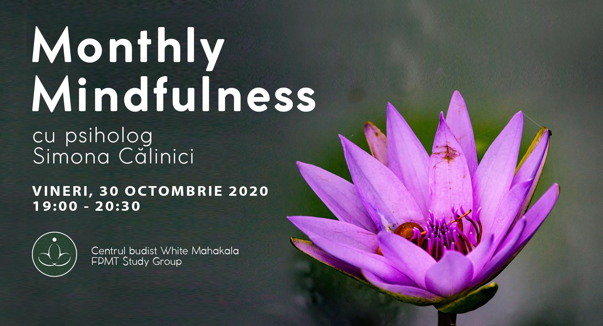 Monthly Mindfulness cu psih. Simona Călinici