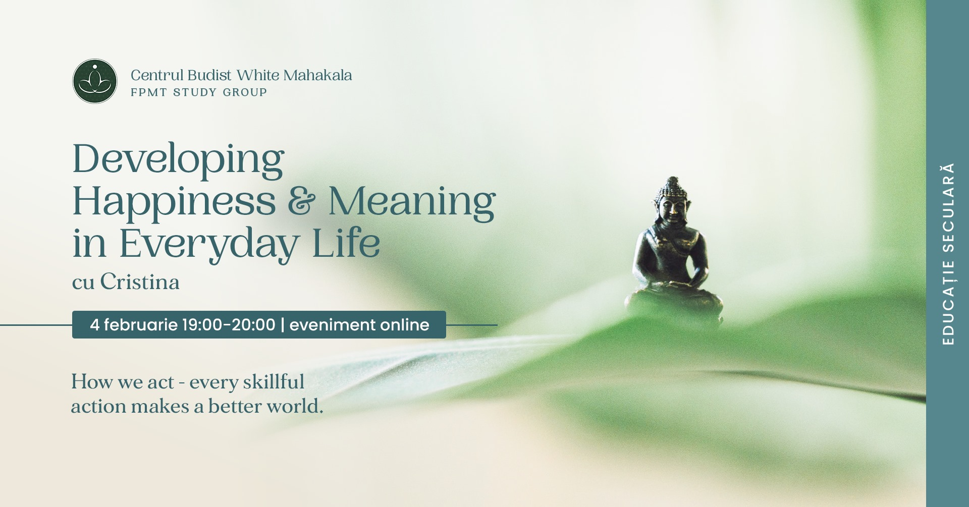 Developing Happiness&Meaning in Everyday Life cu Cristina