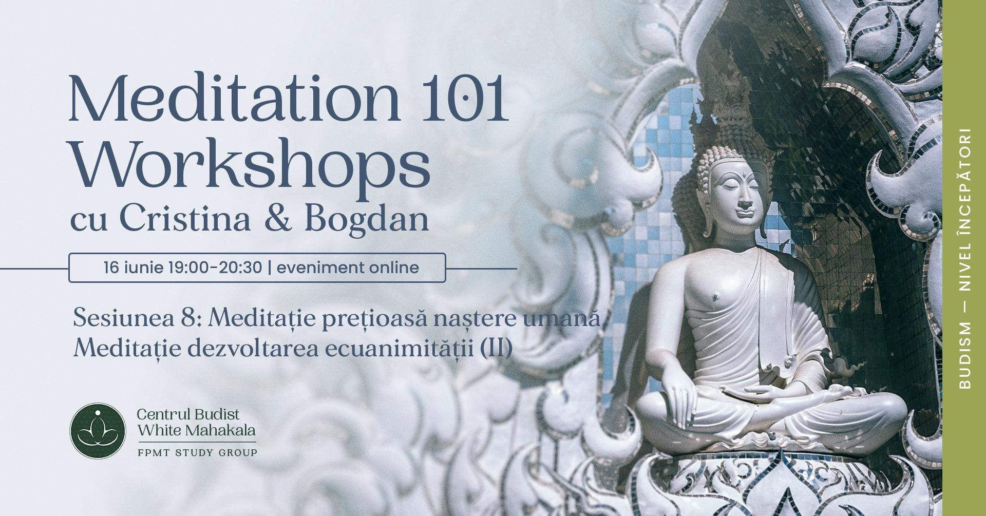 MEDITATION 101- Sesiunea 8:Meditatie pretioasa nastere umana/Meditatie dezvoltarea ecuanimitatii(II)