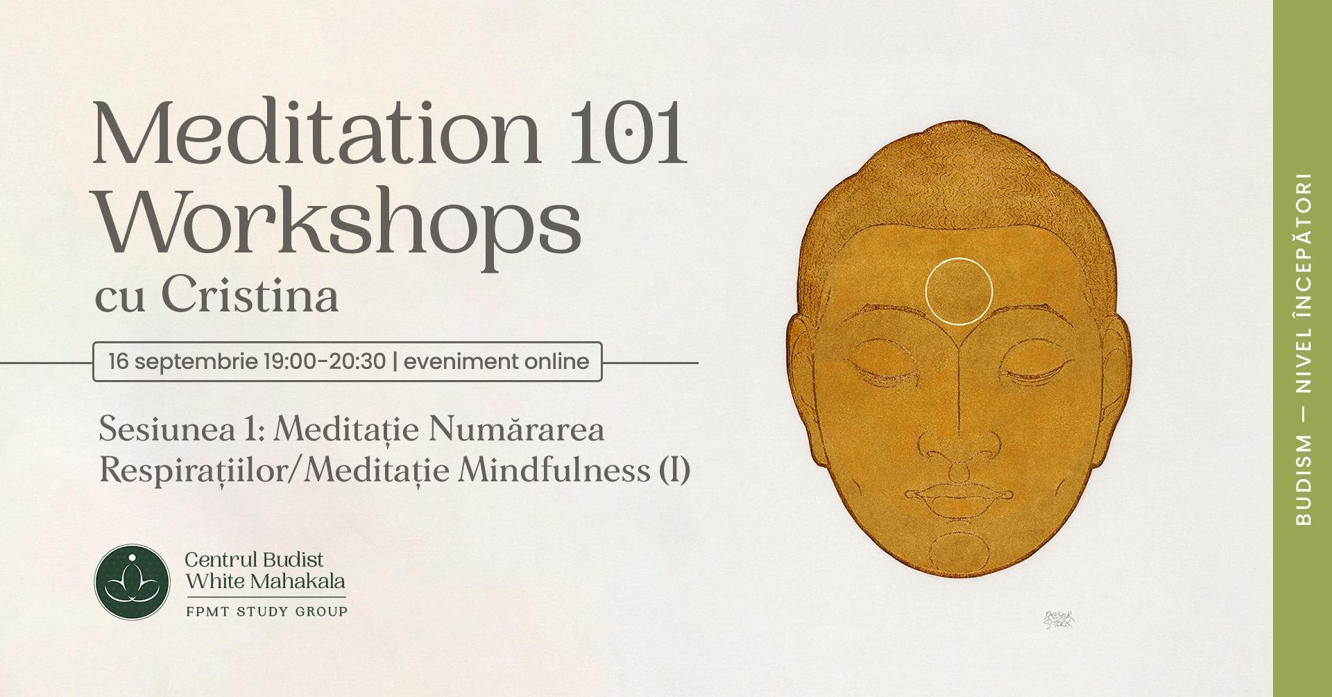 MEDITATION 101- Workshops Sesiunea 1: Meditatie Numararea Respiratiilor/Meditatie Mindfulness (I)
