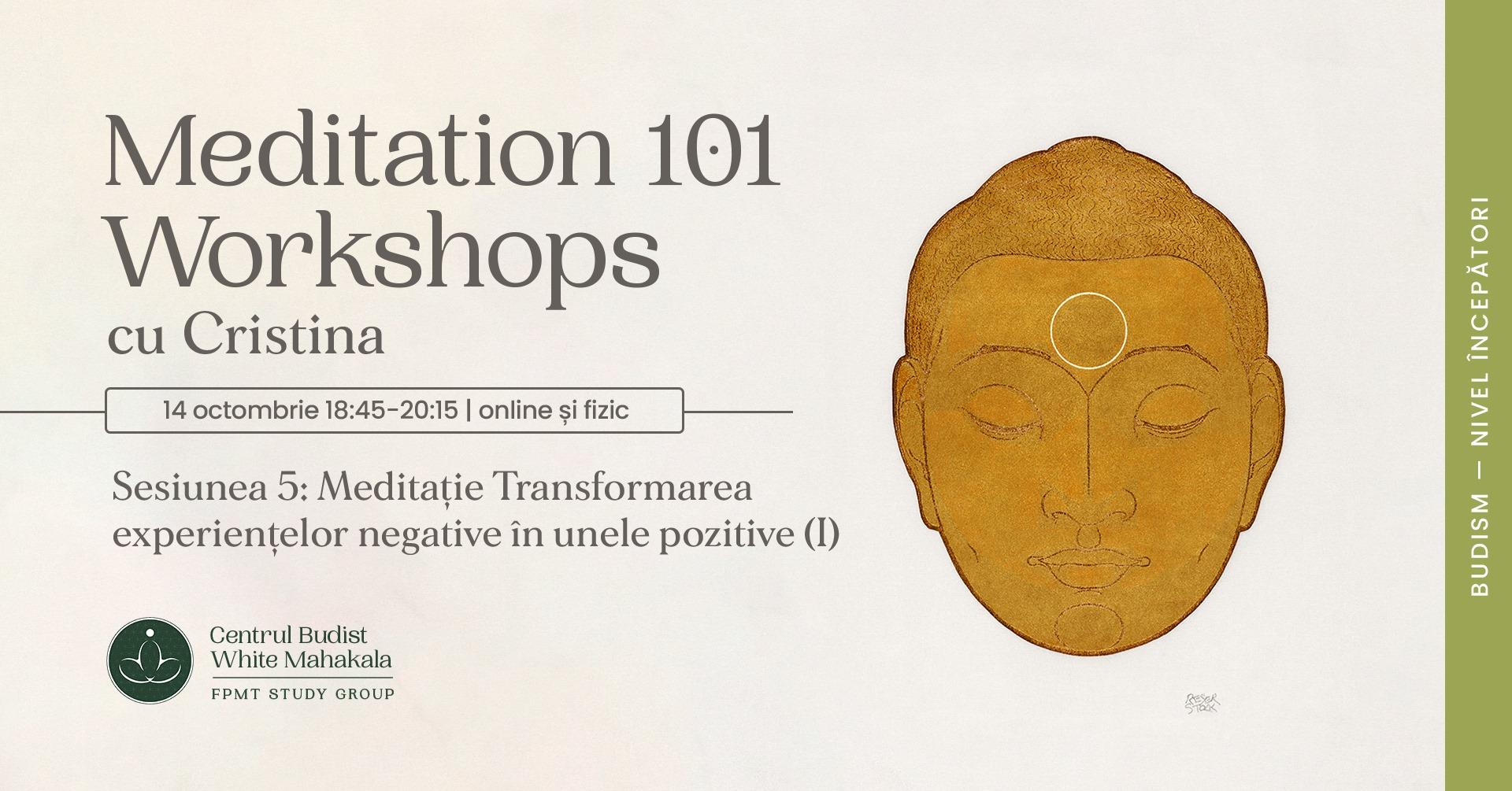 MEDITATION 101- Workshops. Sesiunea 5: Transformarea experientelor negative in unele pozitive (I)
