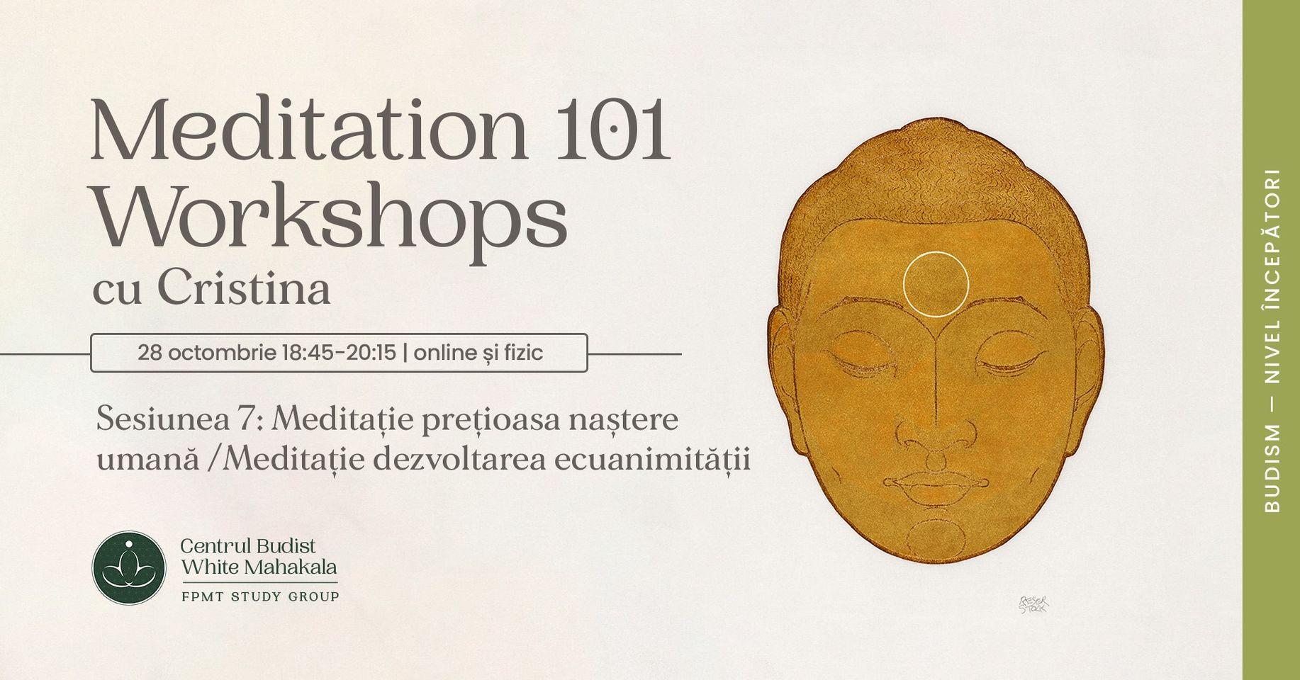 MEDITATION 101- Sesiunea 7: Meditatie pretioasa nastere umana/Meditatie dezvoltarea ecuanimitatii