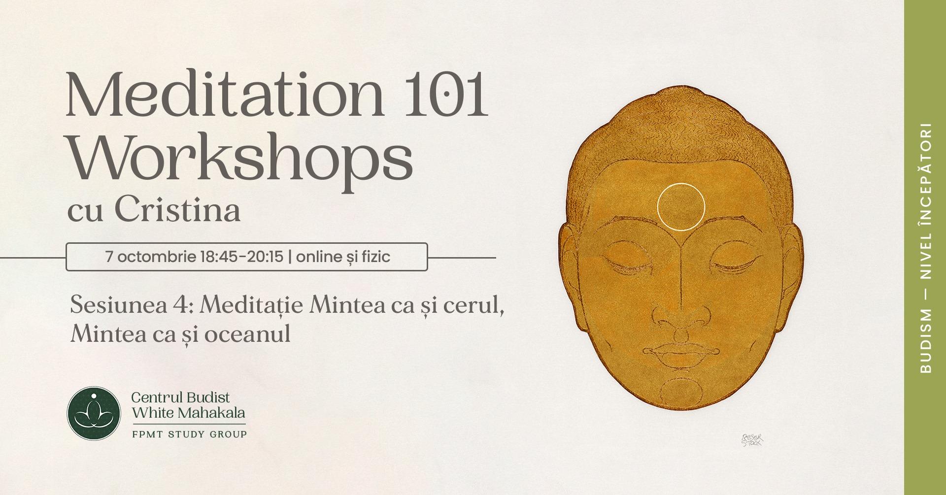 MEDITATION 101- Workshops. Sesiunea 4: Meditatie Mintea ca si cerul/Mintea ca si oceanul
